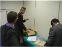 Nel laboratorio di ricerca della Universidad Europea de Madrid (UEM), insieme ai Dott. Bishop, Dott. Shacklock e Dott. Fernandez-Carnero.