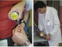 Valutazione della soglia del dolore (PPT) con algometria.